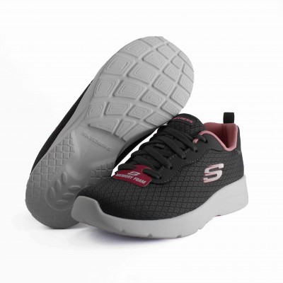SKECHERS DYNAMIGHT 2.0 EYE TO EYE CHARCOAL CORAL