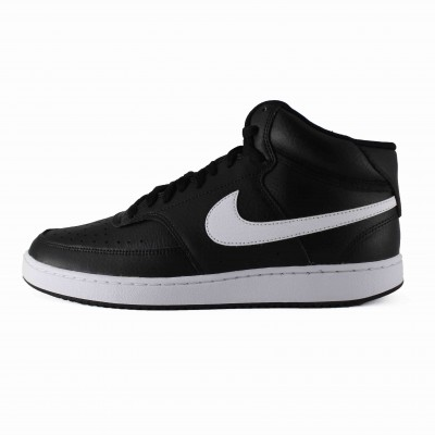 NIKE COURT VISION MID BLACK WHITE