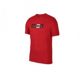 Camiseta Roja Nike Sportswear Just Do It Hombre