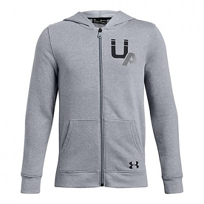 UNDER ARMOUR BOY'S RIVAL LC LOGO STEEL LIGHT ROYAL
