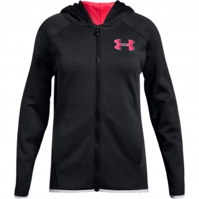UNDER ARMOUR GIRLS AF FULL ZIP BLACK PINK