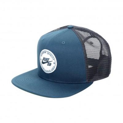 NIKE PRO CAP PATCH TRUCKER BLUE