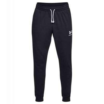 UNDER MENS TRAINING SPORTSTYLE TERRY JOGGER BLK