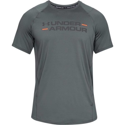 UNDER ARMOUR MENS TRAINING MK1 SS WORDMARK GRY