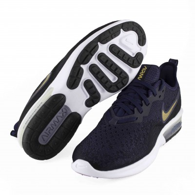 NIKE WMNS AIR MAZ SEQUENT BLACK METALLIC GOLD