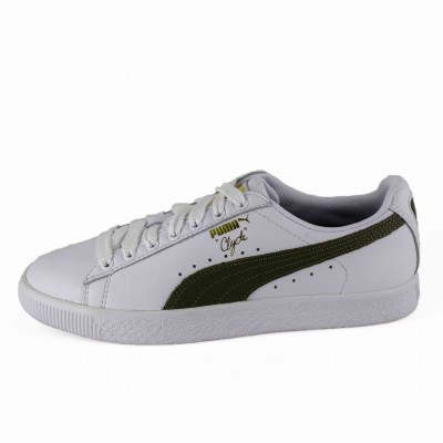 PM CLYDE CORE LACE WNS PM WHITE OLIVE NIGHT GOLD