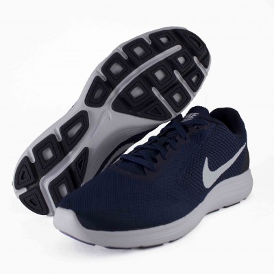 NIKE REVOLUTION 3 MIDNIGHT NAVY WHITE OBSIDIAN