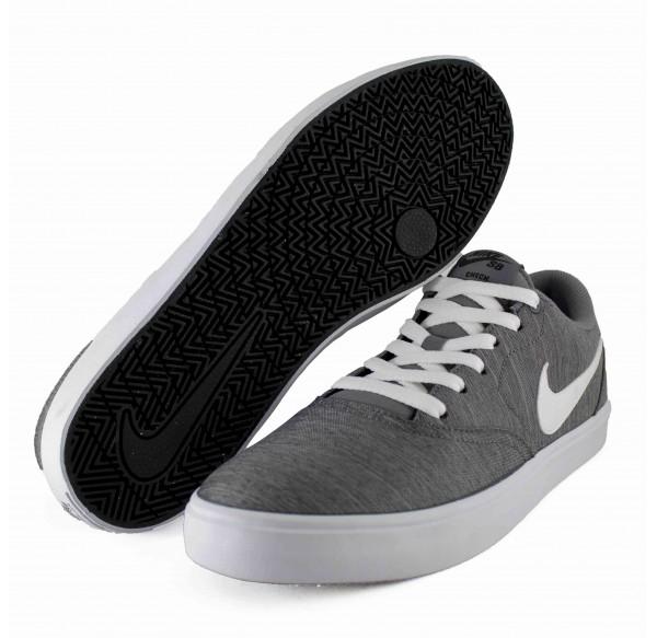 Tenis Gris Nike Sb Check Solar Canvas Premium Gunsmoke White Black