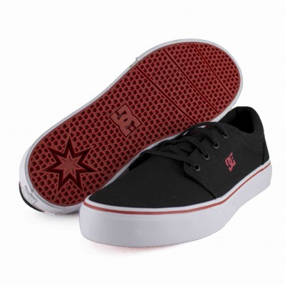 DC KIDS TRASE TX BLACK/ATHLETIC RED