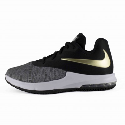 NIKE AIR MAX INFURIATE III LOW BLACK METALLIC GOLD