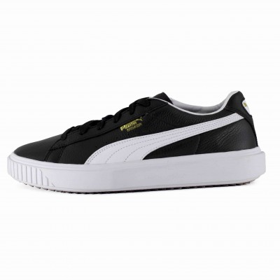 PUMA BREAKER LTHR BLACK WHITE