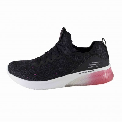 SKECHERS AIR ULTRA FLEX SUNNY REIN BLACK WHITE