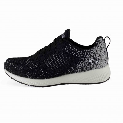 SKECHERS BOBS SQUAD AWESOME SAUCE BLACK GRAY