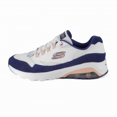 SKECHERS AIR EXTREME LOUD STATEMENT WHITE NVY PINK