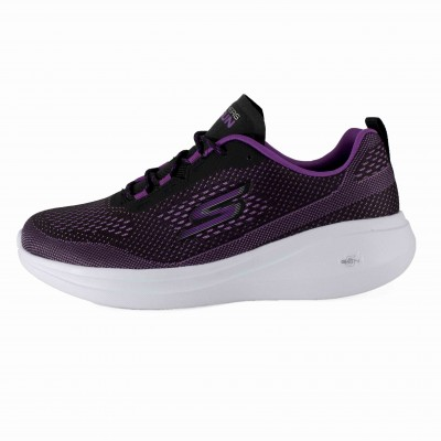 SKECHERS GO RUN FAST LASER BLACK PURPLE