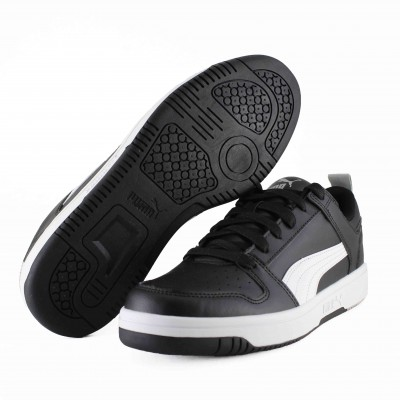 PUMA REBOUND LAYUP LO SL BLACK WHITE HIGH RISE